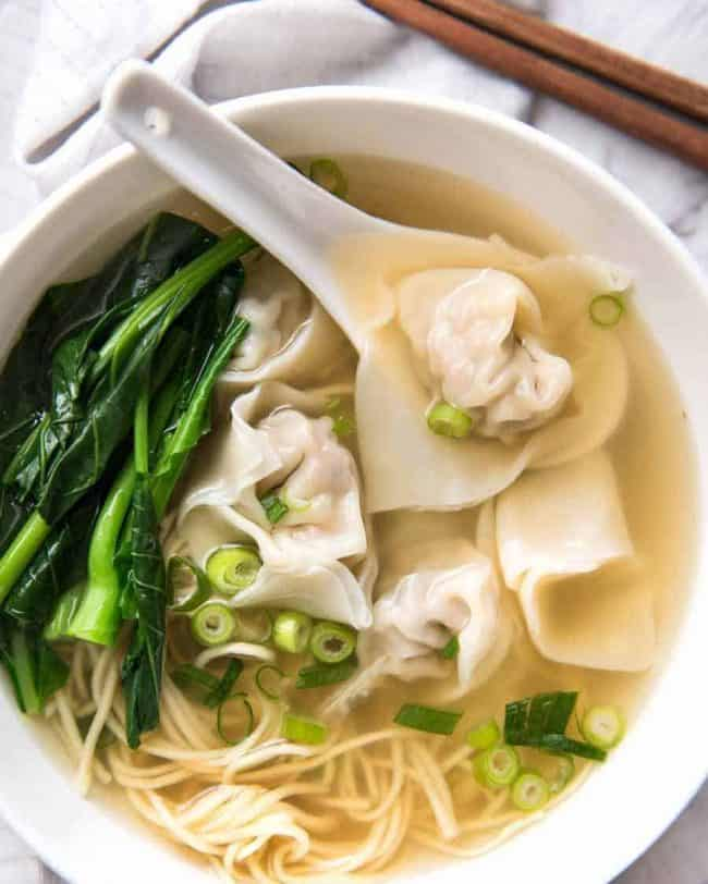 Chinese Wonton soup recipe 馄饨