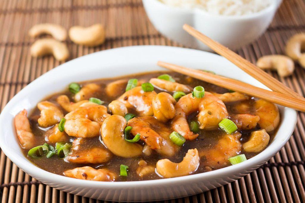 Fried Shrimp and Cashew recipe