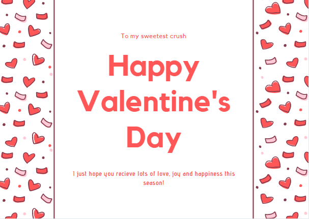 In valentines for a crush write what card to your Surprise your