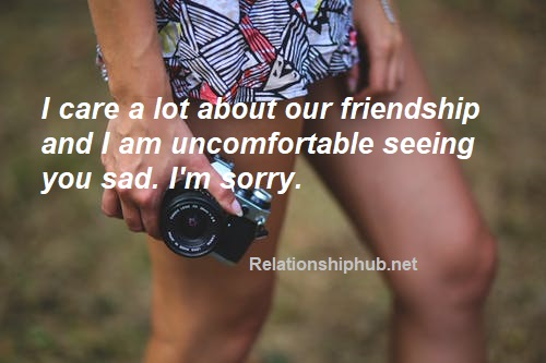 apology text messages for friends